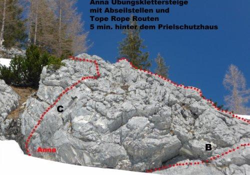 Klettersteige hinter dem Prielschutzhaus